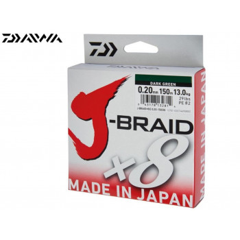 Daiwa J-Braid X8 Fletline Green