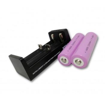Bolyguard oplader +2 stk. batterier