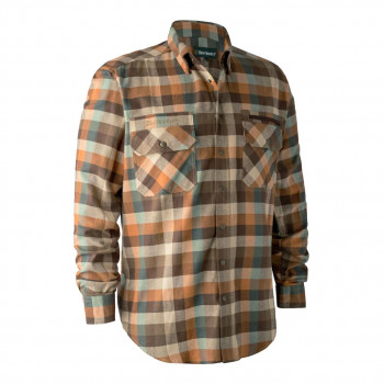 Deerhunter James Skjorte Brown Check