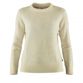 Fjällräven Övik Nordic Sweater Dame Hvid