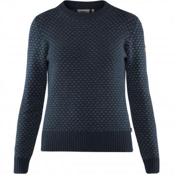 Fjällräven Övik Nordic Sweater Dame Navy