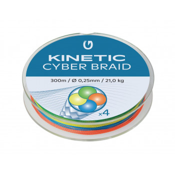 Kinetic 4 Braid 300m. Multicolour