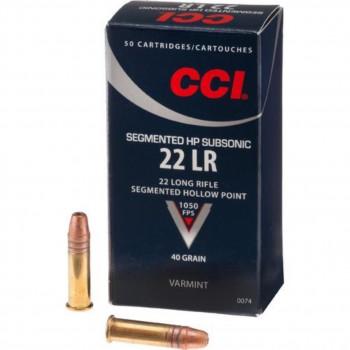 CCI 22LR Subsonic Segment 40gr.
