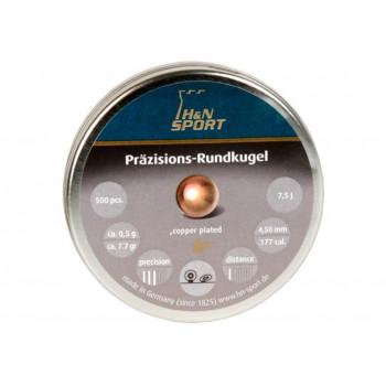 H&N Rundkugle 4,4mm. forkobret