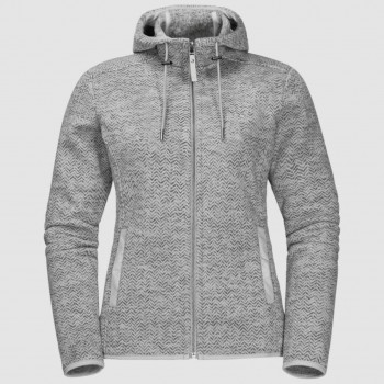 Jack Wolfskin Patan Hooded Fleece Dame Grå