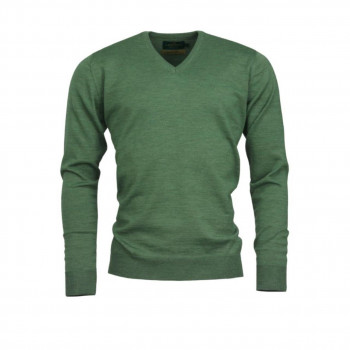 Laksen Sussex V-neck Merino ivy