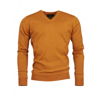 Laksen Sussex V-neck Merino gold