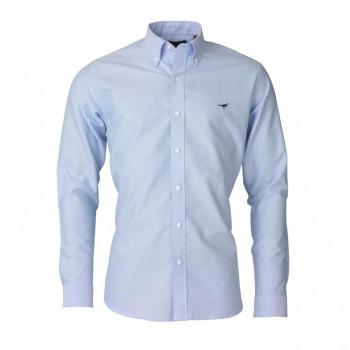 Laksen Harvard Oxford Skjorte Light Blue